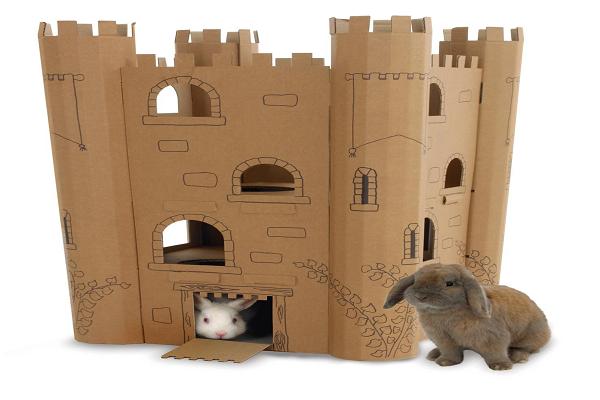 Como hacer una casa de conejo con cartón